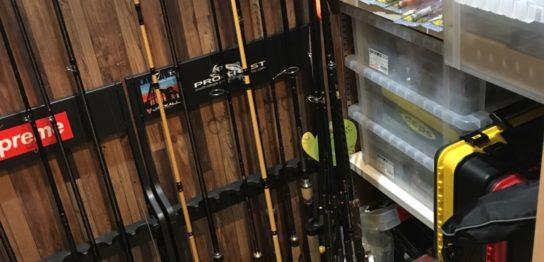 自宅の釣具置き場